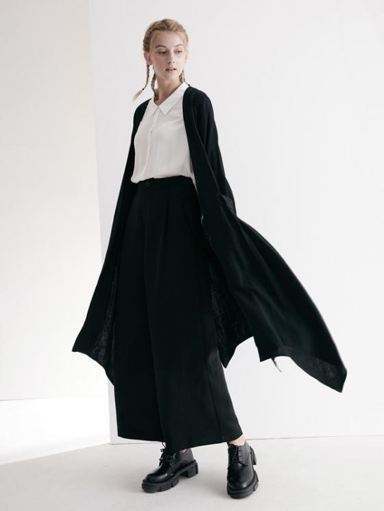 帅气穿搭选择黑色阔腿裤 可之馨KEZXIN女装轻松百搭