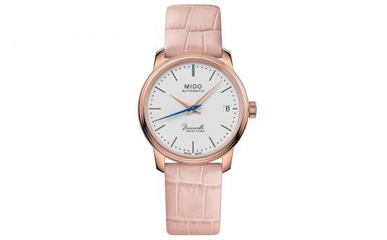 瑞士美度表贝伦赛丽典藏系列粉色款超薄女士腕表柔美上市 轻盈纤薄,简约淡雅