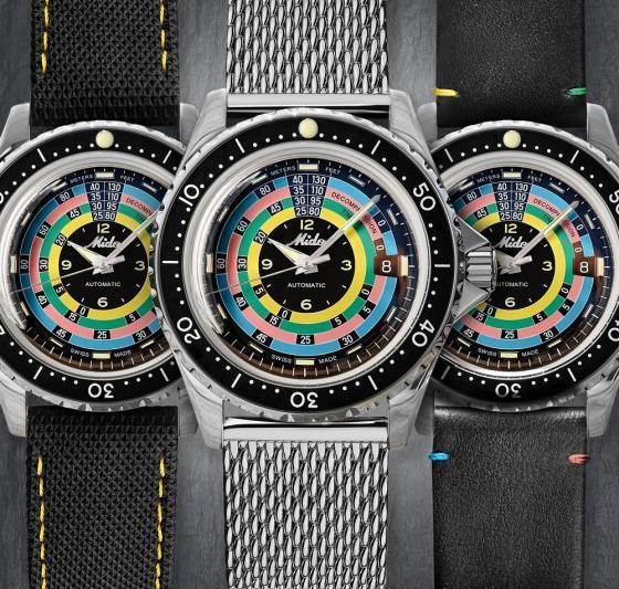 """瑞士美度表领航者系列""""彩虹圈""""复刻限量款腕表重磅上市 三重魅力,多面经典"""